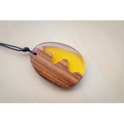 Naszyjnik z żywicy i drewna...